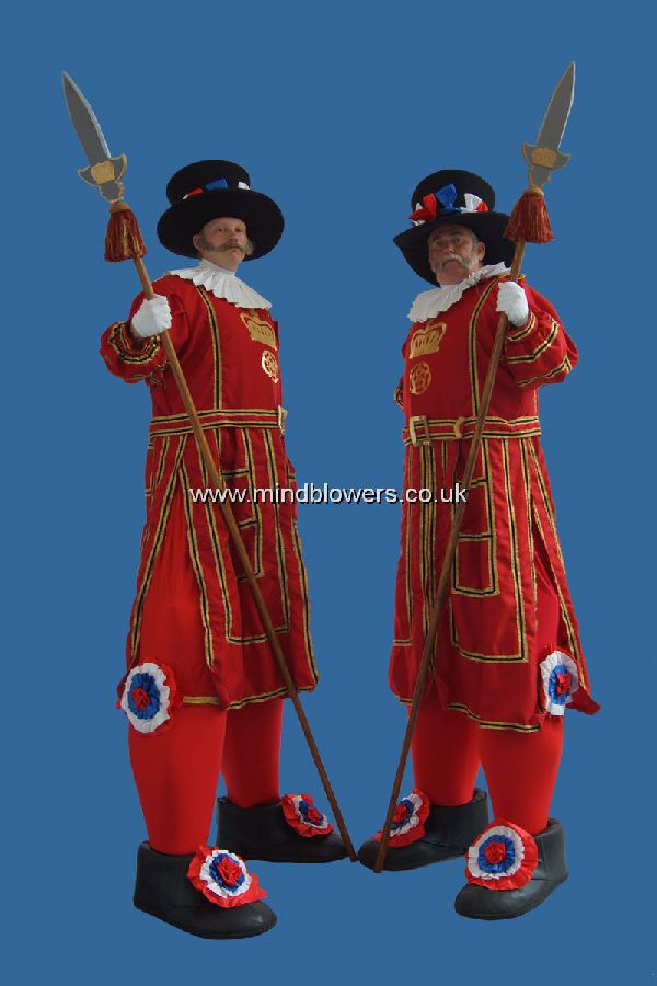 Stilt Walking Beefeaters
