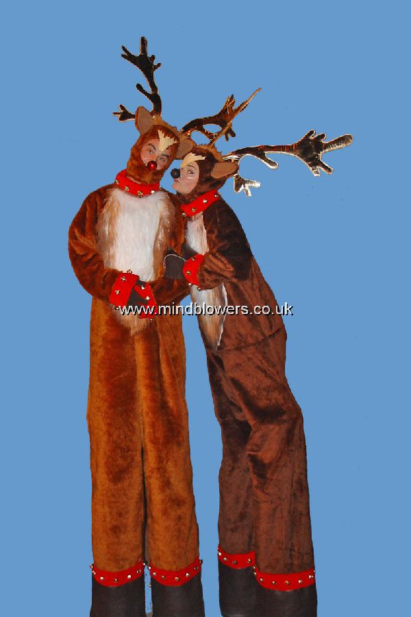 Reindeer Stilt Walkers