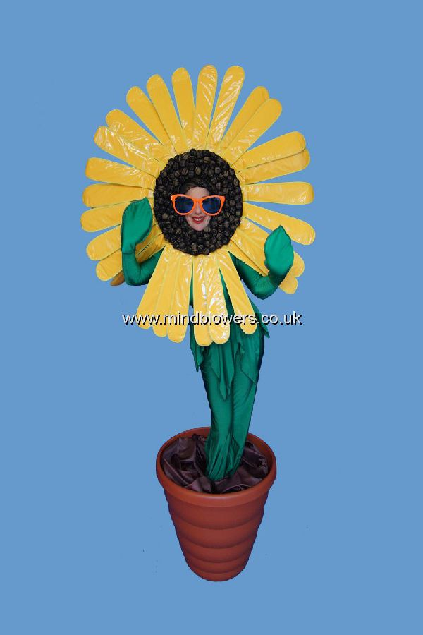 Sunflower Human Statue