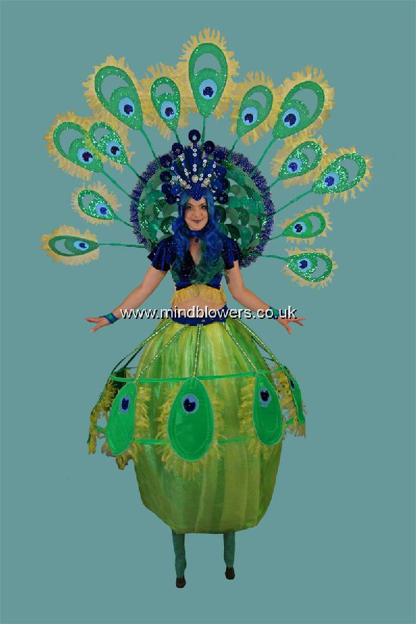 Peacock Stilt Walker